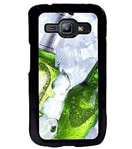 Printvisa Beer Bottles Depicting Summertime Back Case Cover for Samsung Galaxy J1::Samsung Galaxy J1 J100F