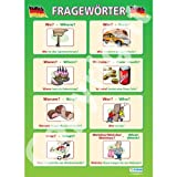 FragewörterModern Languages Educational Wall ChartPoster in laminated paper A1 850mm x 594mm