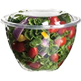 48 oz. Salad Bowls w/Lid Clear 150 ct.