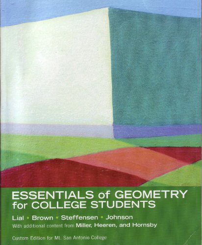 Essentials of geometry for college students custom edition for mt best to buy low prices essentials of geometry for college students custom edition for mt san antonio college online at discount prices or through fandeluxe Image collections