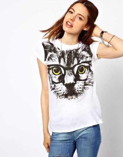 R-port レディース グラスCat Tシャツ