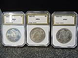 Lot of 3 1882 1883 1884 CC Carson City Morgan Silver Dollar