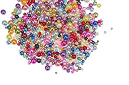 750pc Glass Pearls, 4-10mm, Mixed Colors, Bulk Lot