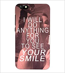 PrintDhaba Quote D-4898 Back Case Cover for HUAWEI HONOR 4X (Multi-Coloured)