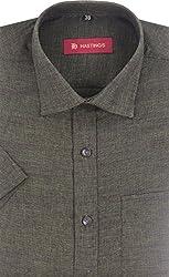 HASTINGS Men's Formal Shirt (V145_40, Green, 40)