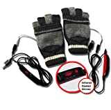 ValueRays� Heated Gloves, USB Heated Gloves, USB Fingerless Heated Gloves, Infrared Heated Gloves, Infrared Heat, Heated Mittens, Heated Computer Gloves, Cold Hands, Hand Warmer, ValueRays