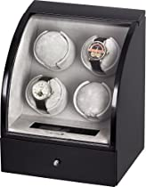Auer Accessories Europa 324B Watch Winder for 4 Watches Individually Programmable