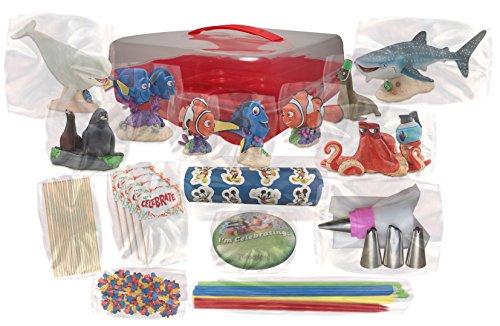 Deluxe Cake Decorating Kit : Disney s Finding Dory Deluxe Cake / Cupcake Topper ...