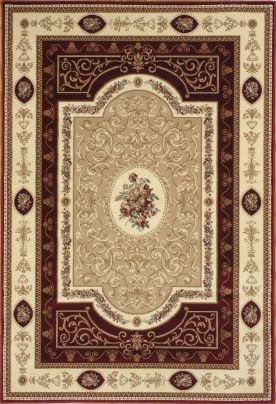 "Rugs America 2-NVFAC New Vision French Aubusson Cherry Oriental Rug Size: 9'10"" x 13'2"""