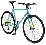 Retrospec Bicycles AMOK V2 CycloCross Nine-Speed/Commuter Bike with Chromoly Frame, Hi-Vis Blue, 54cm/Medium