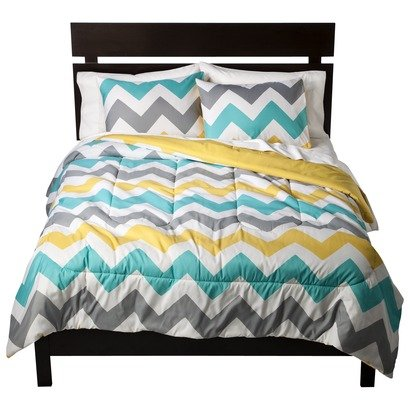 Grey And Turquoise Bedding 9099 front