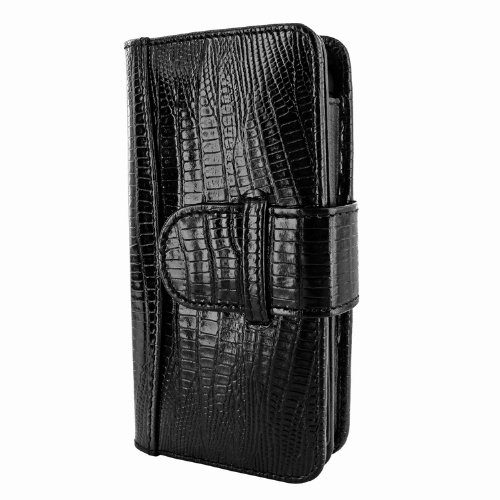 Special Sale Apple iPhone 5 / 5S Piel Frama Black Lizard Leather Wallet