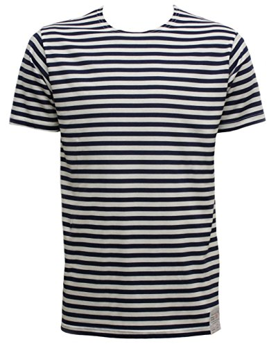 Russian Telnyashka Striped Sailors's / Navy's T-Shirt Short Sleeve (M, NAVY)