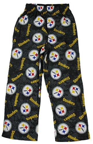 Pittsburgh Steelers Nfl Boys Printed Logo Pajama Pant (Medium- 10/12, Black-Yellow-White) front-1066644