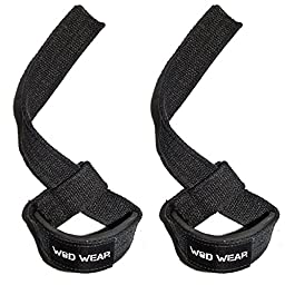 Lifting Straps For (Professional Quality) Powerlifting, CrossFit, Weightlifting, Bodybuilding - Unisex, Protect Wrists and Hands, Padded, Cotton - Protect Wrists and PR - 100% Guaranteed Warranty