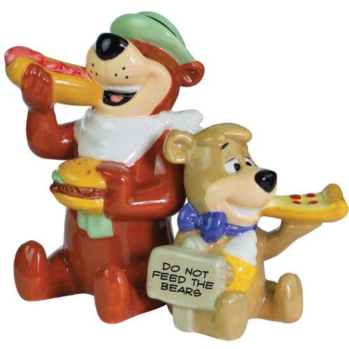 Westland Giftware Yogi Bear Yogi and Boo-Boo Eating 3-1/2-Inch Magnetic Salt and Pepper Shakers