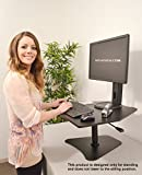 Victor High Rise Adjustable Stand-Up Desk Converter, 28 x 23 x 16-3/4 Inches, Black (VCTDC200)