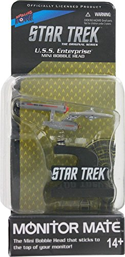 Star Trek The Original Series Monitor Mate U.S.S. Enterprise Mini Bobble Head - 1