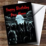 Zombies And Monsters Scary Funny Personalized Birthday Card