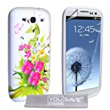 Samsung Galaxy S3 Pink And Yellow Floral Silicone Caseby Yousave Accessories