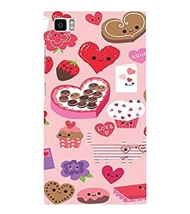 EPICCASE Love n Cake Mobile Back Case Cover For Xiaomi Mi3 (Designer Case)