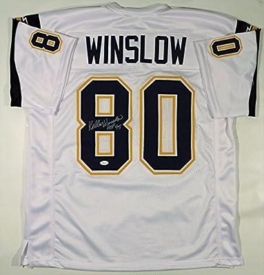 Kellen Winslow Signed Autographed 'HOF 95' San Diego Chargers Football Jersey (JSA COA)