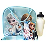 Frozen Blue Lunch Bag, Water Bottle and Pouch Set - Great Gift Set for Girls