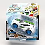 RTR-13 (White) * Hyper-Maxx High-Torque Pull-Back Motorized Vehicle * 2013 Maisto Hyper Fast Lightwe