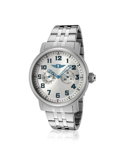I by Invicta Men's IB90235-002 Silver-Tone Dial Stainless Steel Watch