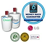 LG LT500P, 5231JA2002A, 5231JA2002A-S, 88009234, 1648-0019 Compatible Water Filter 2 Pack