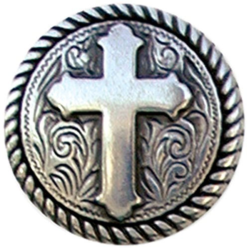 Tandy Leather Factory Round Rope Edge Cross Concho, 1-Inch