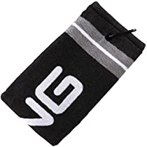 "NEW Ping Tri-Fold Black/Gray Bag Cart Towel 21""x16"""