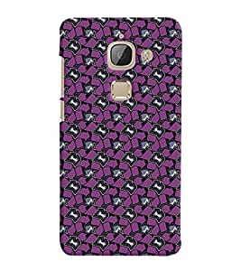 Printvisa Purple And Black Abstract Geommetric Pattern Back Case Cover for LeEco Le Max 2::Le TV Max2