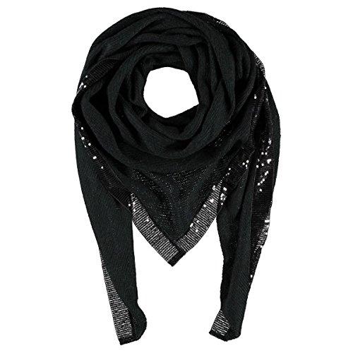 Sciarpa Triangolare Lustrini Passigatti sciarpa da donna sciarpa a maglia Taglia unica - nero