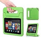 """MoKo Amazon Kindle Fire HD 7 """" Pulgadas 2014 Tableta Funda - Ligero y Super Protective Funda Diseñar Especialmente para los Niños, VERDE"""