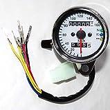 [Nikayoni Store's] バイク 汎用 機械式 160km スピードメーター トリップメーター LED バックライト ニュートラル ハイビーム ウィンカー インジケーター 付