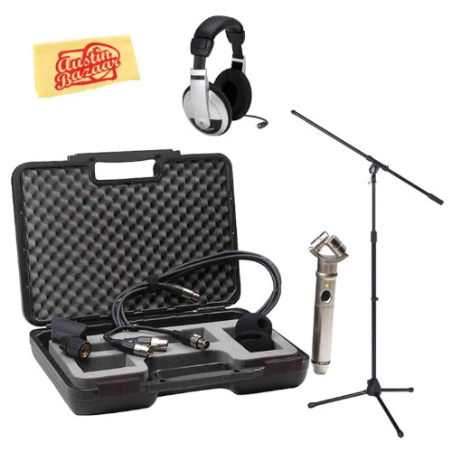 Rode Nt4 X/Y Stereo Condenser Microphone Bundle With Mic Stand, Stereo Mic Cable, 3.5Mm Minijack Cable, Headphones, Carrying Case, Mic Clip, Windscreen, And Polishing Cloth