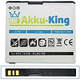 Akku-King Li-Polymer Battery for HTC / T-mobile Touch HD / Pro HD Blackstone 100 HD T8282 - replaces BA S340 / 35H00120-01M - 1500mAh