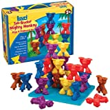 Lauri Toys Tall-Stacker Mighty Monkey Pegs and Pegboard Set