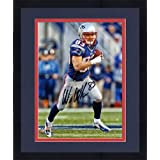Framed Wes Welker New England Patriots Autographed 8'' x 10'' Vertical Running with Ball... by