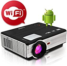 EUG Portable Android LCD Cinema Projector Full Hd LED Home Theater Wifi Projector Image System 3d 10