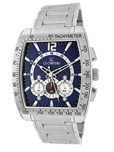 buy Le Chateau Men'S 5408M_Wht Sports Dinamica Collection With Chrono And Military-Time Watch