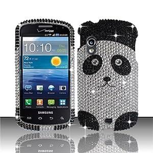 For Samsung© Stratosphere i405 Full Diamond Design Case Cover - Panda Bear by Zizo Wireless