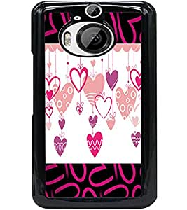 ColourCraft Love Hearts Design Back Case Cover for HTC ONE M9 PLUS