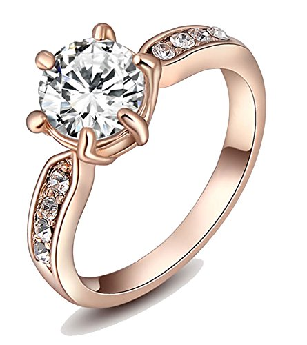 Kaizer Jewelry 18K Rose Gold Plated Ring For Women