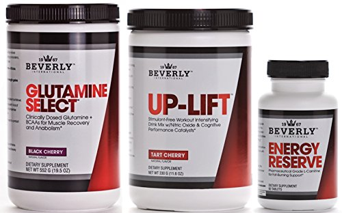 Beverly International Glutamine Select, Up-Lift & Energy Reserve Endurance Stack 5% OFF (Beverly Energy Reserve compare prices)