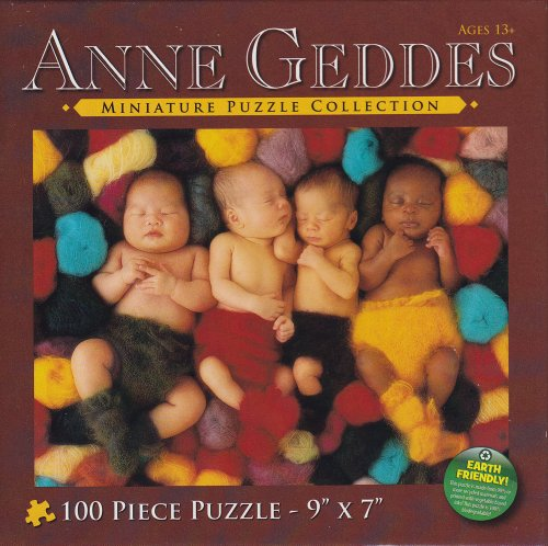 Anne Geddes Miniature Puzzle Collection: Heartfelt Series - Babies In Yarn