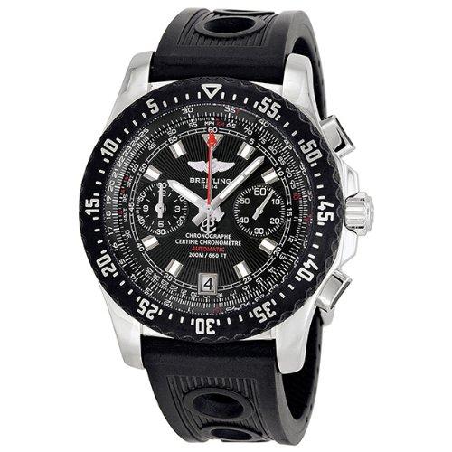 Breitling Skyracer Raven Black Dial Black Ocean Racer Automatic Mens Watch A2736423-B823BKOR