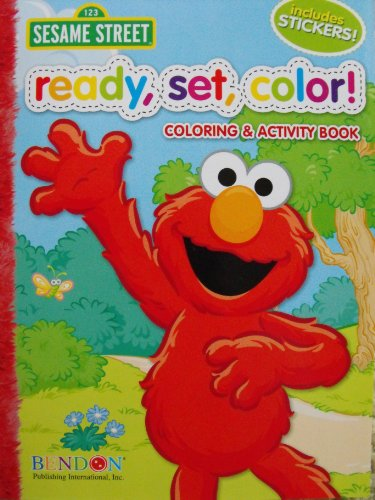 Sesame Street Ready, Set, Color! Coloring and Activity Book with 30 Stickers 144 Pages - 1