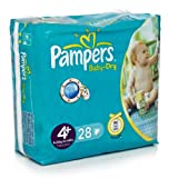 Pampers Baby Dry Nappies Unisex 4+ 28